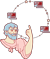 Pythagoras pointing at the round internet, and it's not flat.